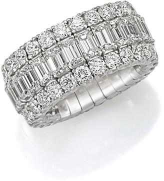 Picchiotti Xpandable 18k White Gold Round and Emerald-Cut Diamond Ring