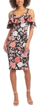 Rachel Roy Off-The-Shoulder Floral Midi Dress