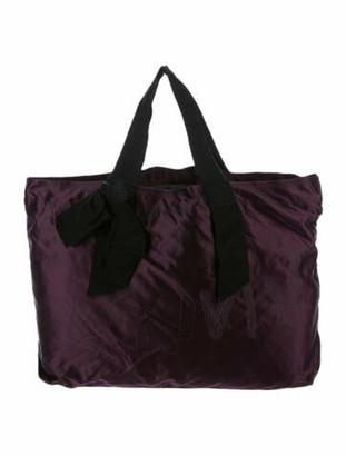 Lanvin Bow Satin Tote Purple