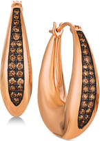 LeVian Le Vian Chocolatier Diamond Hoop Earrings (1/3 ct. t.w.) in 14k Rose Gold