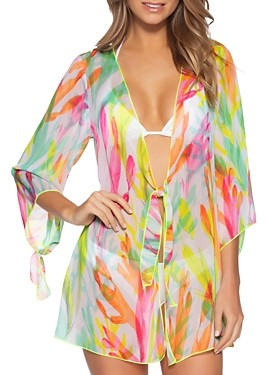 Becca by Rebecca Virtue Coral Reef Printed Tunic Cover-Up