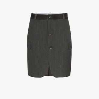 Rentrayage Pinstripe Wool Mini Skirt
