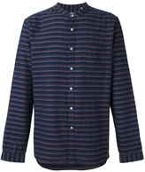 Oliver Spencer 'Textured Grandad Collar' shirt