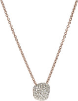 Monica Vinader Nura Mini Nugget 18ct rose-gold vermeil and diamond necklace