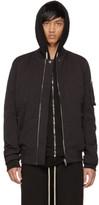 Rick Owens Black Cotton and Nylon Flight Jacket