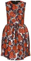 MSGM Metallic Floral Dress