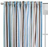 Bacati Diamonds & Stripes Aqua Curtain Panel