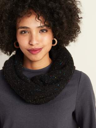 Old Navy Boucle-Knit Sherpa-Lined Infinity Scarf for Women