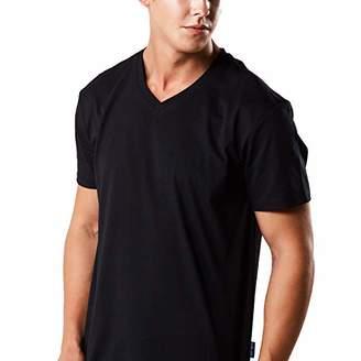 HRM Men's V M T-Shirt, 01-Black, M