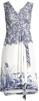 Elie Tahari Everdeen Floral Wrap Dress