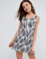 Brave Soul Print Zip Smock Dress