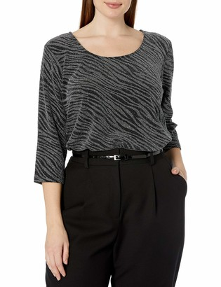 Karen Kane Women's Plus Size 3/4 Sleeve Side-Slit TOP