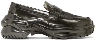Maison Margiela Grey Ridged Sole Loafers