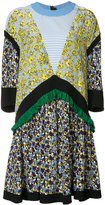 MSGM multiple prints shift dress - women - Silk - 40