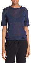 DKNY Sheer Short Sleeve Pullover