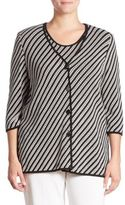 Stizzoli, Plus Size Striped Cardigan