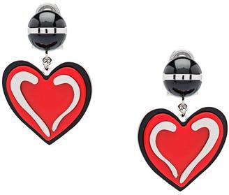 Prada Heart Clip-On Earrings