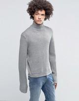 Cheap Monday Glam Silver Knit Funnel Neck Side Pocket