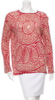 Giambattista Valli Printed Linen Top w/ Tags