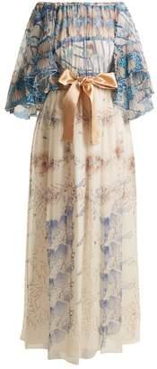 Zandra Rhodes Archive Ii The 1973 Seashell Spiral Gown - Womens - Cream Multi