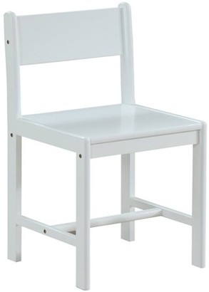 Acme Ragna Children Wooden Side Chair in White Finish
