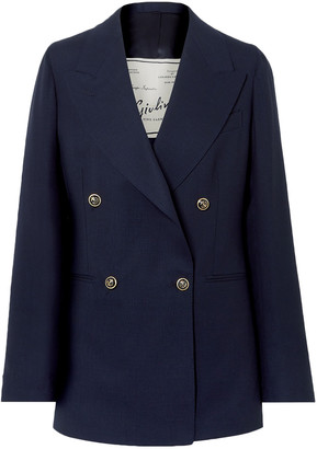 Giuliva Heritage Collection Stella Double-breasted Wool Blazer