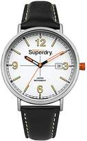 Superdry 'Oxford Field' Quartz Metal and Leather Casual Watch