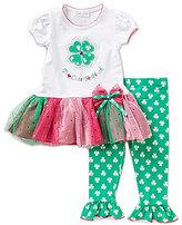Bonnie Jean Bonnie Baby Girls Newborn-24 Months Too Cute To Pinch St. Patricks Day Dress & Shamrock Leggings Set