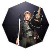 Angelinana on Bon Jovi Pattern Custom Foldable Sun Rain Umbrella Wind Resistant Windproof Floding Travel Umbrella
