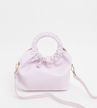 Liars & Lovers Exclusive ruched grab mini bag in lilac