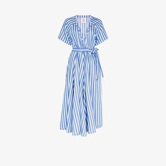 Rosie Assoulin Stripe Wrap Jumpsuit