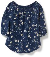 Old Navy Floral-Print 3/4-Sleeve Top for Toddler