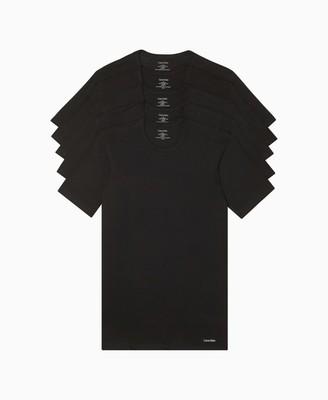 Calvin Klein Cotton Classic Slim Fit 5-Pack Crewneck T-Shirt