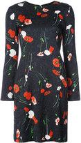 Oscar de la Renta floral shift dress