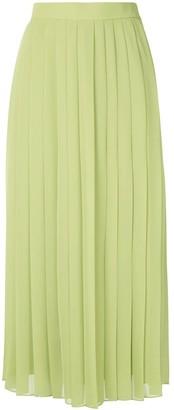 The Row Magda pleated midi skirt