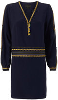 Exclusive for Intermix Embroidery Trim Silk Dress