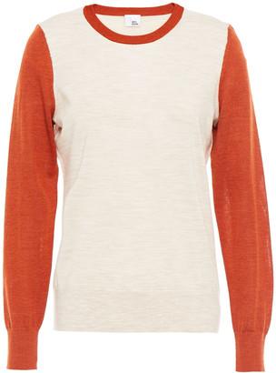 Iris & Ink Beatrice Color-block Merino Wool Sweater