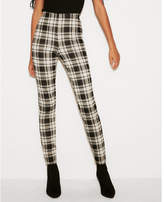 Express high waisted pull-on plaid leggings