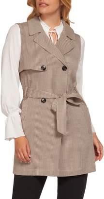 Dex Double-Breasted Tie-Belt Vest