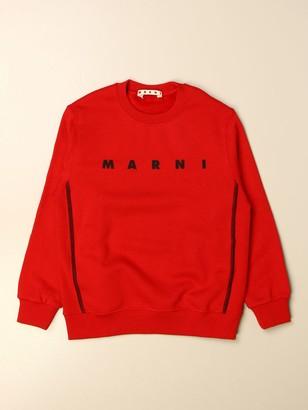 Marni Crewneck Sweater With Logo