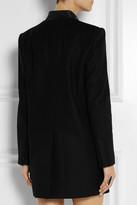 Helmut Lang Oversized leather-trimmed wool-blend blazer