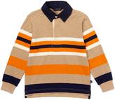E-Land Kids Burnt Orange & Navy Rugby-Stripe Polo - Boys