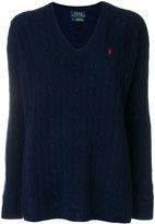 Polo Ralph Lauren braided motif sweater