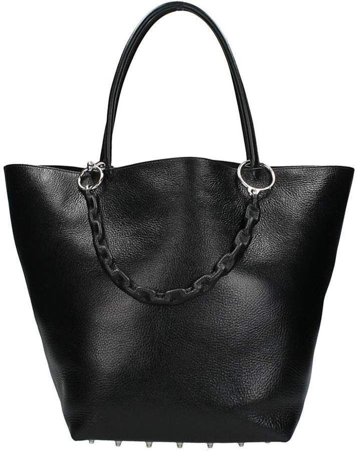 Alexander Wang Roxy Bag In Black Grained Leather