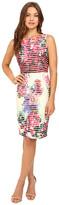 Badgley Mischka Floral Neoprene Dress