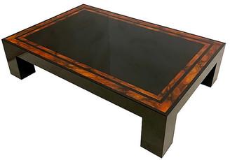 One Kings Lane Vintage Modern Faux Burl & Lacquer Coffee Table - Von Meyer Ltd. - black/burl