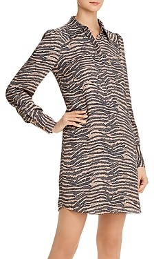 Joie Talma Zebra Print Shirt Dress