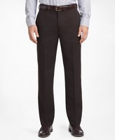 Brooks Brothers Madison Fit Flat-Front Classic Gabardine Trousers