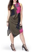 Rachel Roy Plus Size Women's Asymmetrical Draped Dress