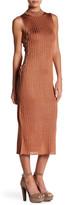 NBD Luca Lace-Up Midi Dress